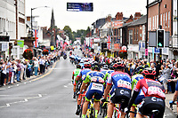Picture by Simon Wilkinson/SWpix.com - 05/09/2018 - Cycling - OVO Energy Tour of Britain 2018 -  Stage 4 Nuneaton to Royal Leamington Spa - Huge crowds as the peloton passes down Kenilworth High Street