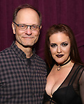 """David Hyde Pierce and Jennifer Simard backstage after """"Stigma"""" on September 9, 2018 at the Green Room 42 in New York City."""