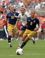 Kristine Lilly, middle, Karolina Westberg, right, 2003 WWC USA Sweden.