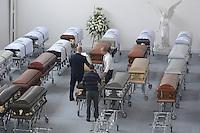 MEDELLIN-COLOMBIA- 30-11-2016. Las victimas del equipo Chapecoense fueron transladadas de la funeraria San Vicente a sus paises de origen . Photo:VizzorImage / León Monsalve / Contribuidor