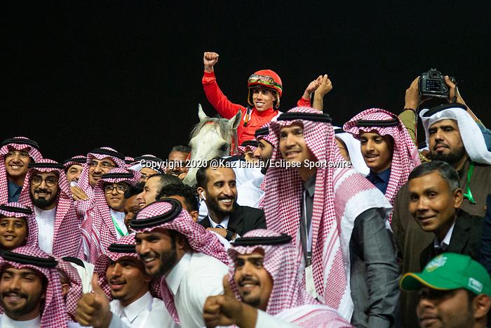 RIYADH,SAUDI ARABIA-FEB 29: New York Central,ridden by Irad Ortiz Jr,wins the Saudia Sprint at King Abdulaziz Racetrack on February 29,2020 in Riyadh,Saudi Arabia. Kaz Ishida/Eclipse Sportswire/CSM