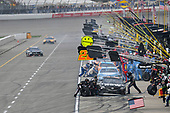 Monster Energy NASCAR Cup Series<br /> Pure Michigan 400<br /> Michigan International Speedway, Brooklyn, MI USA<br /> Sunday 13 August 2017<br /> Martin Truex Jr, Furniture Row Racing, Furniture Row/Denver Mattress Toyota Camry makes a pit stop, Sunoco<br /> World Copyright: Logan Whitton<br /> LAT Images