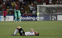 Germany's Lukas Klostermann reacts at the end of the Uefa Under 21 Championship 2019 football final match between Spain and Germany at Udine's Friuli stadium, Italy, June 30, 2019. Spain won 2-1.<br /> UPDATE IMAGES PRESS/Isabella Bonotto