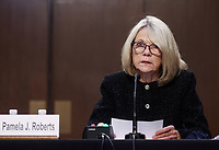 Pamela Roberts of Bowman and Brooke LLP in Columbia, SC, reads a statement as she testfies during the fourth day of U.S. Senate Judiciary Committee confirmation hearings for Supreme Court nominee Judge Amy Coney Barrett on Capitol Hill in Washington, U.S., October 15, 2020. <br /> Credit: Jonathan Ernst / Pool via CNP /MediaPunch