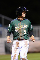 Jamestown Jammers outfielder Austin Meadows (9) scores a run during a game against the State College Spikes on September 3, 2013 at Russell Diethrick Park in Jamestown, New York.  State College defeated Jamestown 3-1.  (Mike Janes/Four Seam Images)