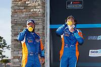 #50 One Motorsports Ligier JS P3, P3-2: Bob Iversen, Terry Olson <br /> Victory Lane