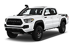 2020 Toyota Tacoma TRD-Pro 4 Door Pick-up Angular Front automotive stock photos of front three quarter view