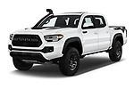 2020 Toyota Tacoma TRD-Pro 4 Door Pick-up Angular Front automotive stock photos of front three quarter view