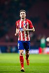 Saul Niguez Esclapez of Atletico de Madrid runs to the soccer fans after the UEFA Europa League 2017-18 Round of 16 (1st leg) match between Atletico de Madrid and FC Lokomotiv Moscow at Wanda Metropolitano  on March 08 2018 in Madrid, Spain. Photo by Diego Souto / Power Sport Images