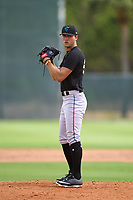 Miami Marlins pitcher Evan Brabrand (65) during a Minor League Spring Training camp day on April 27, 2021 at Roger Dean Chevrolet Stadium Complex in Jupiter, Fla.  (Mike Janes/Four Seam Images)