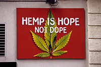 San Francisco, California.  Poster Promoting Use of Marijuana.