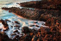 Rocky coastline in the Hapuna area. Hawaii, Island