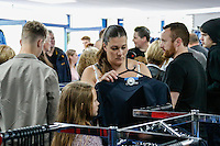 A busy club shop during the 2016/17 Kit Launch of Wycombe Wanderers to the public at Adams Park, High Wycombe, England on 10 July 2016. Photo by David Horn.