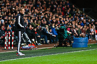 Swansea, UK. Thursday 20 February 2014<br /> Pictured: Garry Monk, Manager of Swansea City<br /> Re: UEFA Europa League, Swansea City FC v SSC Napoli at the Liberty Stadium, south Wales, UK