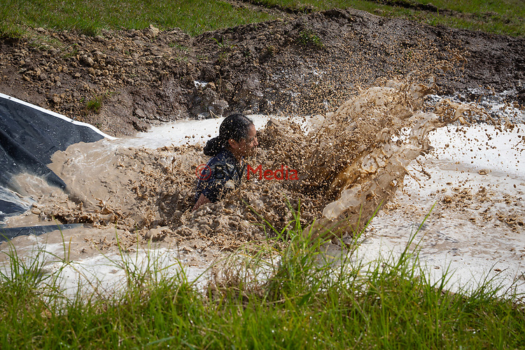 Mud Monster Mud Rush obstacle course.