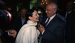 MIKHAIL GORBACIOV CON CARLA FRACCI<br /> COCKTAIL PARTY IN ONORE DI GORBACIOV - HOTEL BAGLIONI ROMA 11-2000