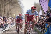 Marcel Kittel (GER/Katusha Alpecin) on the cobbles of Arenberg Forest / Bois de Wallers<br /> <br /> <br /> 116th Paris-Roubaix (1.UWT)<br /> 1 Day Race. Compiègne - Roubaix (257km)