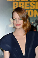 """LOS ANGELES, USA. October 11, 2019: Emma Stone at the premiere of """"Zombieland: Double Tap"""" at the Regency Village Theatre.<br /> Picture: Paul Smith/Featureflash"""