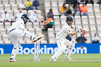 Kane Williamson, New Zealand drives backward of point during India vs New Zealand, ICC World Test Championship Final Cricket at The Hampshire Bowl on 22nd June 2021
