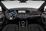 Stock photo of straight dashboard view of 2020 Mercedes Benz GLS GLS450 5 Door SUV Dashboard