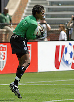 Briana Scurry (USA). US Women's National Team vs Brazil at Legion Field in Birmingham, Alabama.