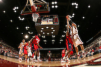 29 December 2007: Stanford Cardinal Brook Lopez during Stanford's 55-48 win against the Fresno State Bulldogs at Maples Pavilion in Stanford, CA.