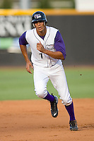 Salvador Sanchez #7 of the Winston-Salem Dash takes off for third base at Wake Forest Baseball Stadium August 30, 2009 in Winston-Salem, North Carolina. (Photo by Brian Westerholt / Four Seam Images)