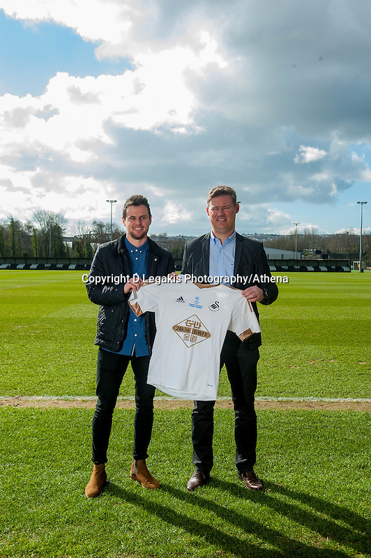 Sunday  06 March 2016<br /> Pictured: <br /> Re: Swansea City and Swansea University announce a sponsorship deal for the Youth teams