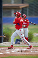 Philadelphia Phillies Gregori Rivero (3) during a minor league Spring Training game against the Toronto Blue Jays on March 26, 2016 at Englebert Complex in Dunedin, Florida.  (Mike Janes/Four Seam Images)