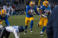 Pitt punt returner Quadree Henderson scores on a 65-yard punt return. The Pitt Panther defeated the Duke Blue Devils 56-14 at Heinz Field in Pittsburgh, Pennsylvania on November 19, 2016.