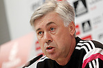 Real Madrid's coach Carlo Ancelotti in press conference after training session.January 30,2015.(ALTERPHOTOS/Acero)