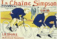 Poster for Catene Simpson, 1896, by Henri de Toulouse Lautrec (1864-1901), lithograph.