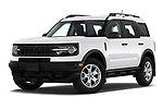 Stock pictures of low aggressive front three quarter view of 2021 Ford Bronco-Sport Base 5 Door SUV Low Aggressive