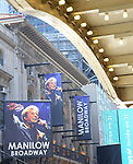 "Theatre Marquee unveiling for ""Manilow Broadway"" starring Barry Manilow at the Lunt-Fontanne Theatre on July 25, 2019 in New York City."