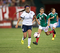 Sydney Leroux. The USWNT defeated Mexico, 7-0, during an international friendly at RFK Stadium in Washington, DC.  The USWNT defeated Mexico, 7-0.