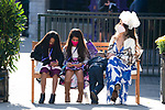 November 7, 2020 : Attendees sit on a bench in the paddock on Breeders' Cup Championship Saturday at Keeneland Race Course in Lexington, Kentucky on November 7, 2020. Scott Serio/Eclipse Sportswire/Breeders' Cup/CSM