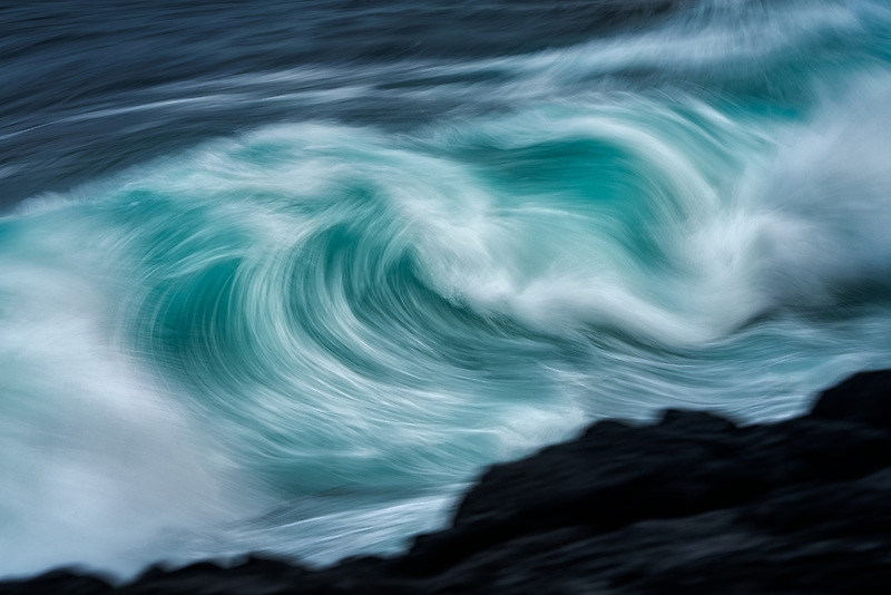 Waves off Hawaii coast.