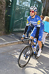 Julian Alaphilippe (FRA) Deceuninck-Quick Step heads to sign on before the start of Strade Bianche 2019 running 184km from Siena to Siena, held over the white gravel roads of Tuscany, Italy. 9th March 2019.<br /> Picture: Seamus Yore   Cyclefile<br /> <br /> <br /> All photos usage must carry mandatory copyright credit (© Cyclefile   Seamus Yore)