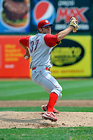 Williamsport Crosscutters pitcher Adam Morgan (37) during game against the Brooklyn Cyclones at MCU Park on August 3, 2011 in Brooklyn, NY.  Brooklyn defeated Williamsport 3-2.  Tomasso DeRosa/Four Seam Images