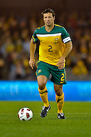 MELBOURNE, AUSTRALIA - JUNE 7: Lucas Neill of the Socceroos during an international friendly match between the Qantas Australian Socceroos and Serbia at Etihad Stadium on June 7, 2011 in Melbourne, Australia. Photo by Sydney Low / AsteriskImages.com