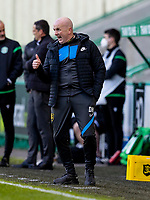 21st April 2021; Easter Road, Edinburgh, Scotland; Scottish Premiership Football, Hibernian versus Livingston; David Martindale manager of Livingston