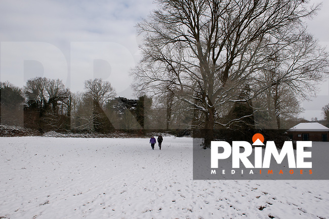More overnight snowfall at Foots Cray Meadow, Sidcup, Kent, England on the 9 February 2021. Photo by Alan Stanford.