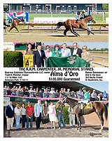 Alma d'Oro winning The R.R.M. Carpenter Jr. Memorial Stakes at Delaware Park on 7/16/11