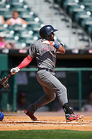 Lehigh Valley IronPigs second baseman Jesmuel Valentin (7) at bat during a game against the Buffalo Bisons on August 28, 2016 at Coca-Cola Field in Buffalo, New York.  Lehigh Valley defeated Buffalo 5-2.  (Mike Janes/Four Seam Images)