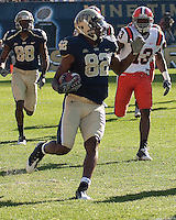 Pittsburgh wide receiver Jonathan Baldwin. The Pittsburgh Panthers defeated the Syracuse Orange 37-10 at Heinz Field, Pittsburgh Pennsylvania on November 7, 2009..