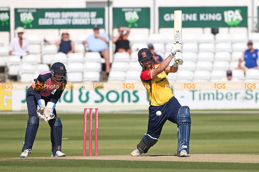 Tom Westley hits 4 runs for  Essex during Essex Eagles vs Middlesex, Vitality Blast T20 Cricket at The Cloudfm County Ground on 18th July 2021