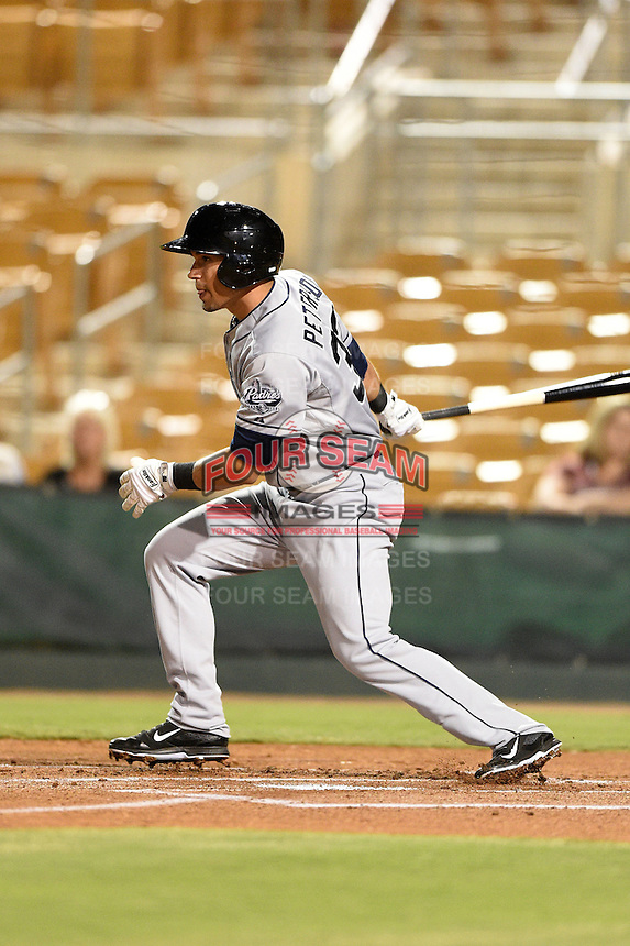 Surprise Saguaros infielder Jace Peterson (33) during an Arizona Fall League game against the Glendale Desert Dogs on October 9, 2014 at Camelback Ranch in Phoenix, Arizona.  Surprise defeated Glendale 7-4.  (Mike Janes/Four Seam Images)