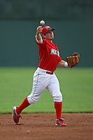 June 21, 2009:  Second Baseman Alan Ahmady of the Batavia Muckdogs in the field during a game at Dwyer Stadium in Batavia, NY.  The Muckdogs are the NY-Penn League Short-Season Class-A affiliate of the St. Louis Cardinals.  Photo by:  Mike Janes/Four Seam Images
