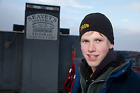 Junior Iditarod start at Knik Lake, Knik, Alaska