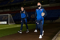 Bolton Wanderers' Tom White (left) and Ali Crawford arriving at the stadium <br /> <br /> Photographer Andrew Kearns/CameraSport<br /> <br /> The EFL Sky Bet League Two - Bolton Wanderers v Salford City - Friday 13th November 2020 - University of Bolton Stadium - Bolton<br /> <br /> World Copyright © 2020 CameraSport. All rights reserved. 43 Linden Ave. Countesthorpe. Leicester. England. LE8 5PG - Tel: +44 (0) 116 277 4147 - admin@camerasport.com - www.camerasport.com